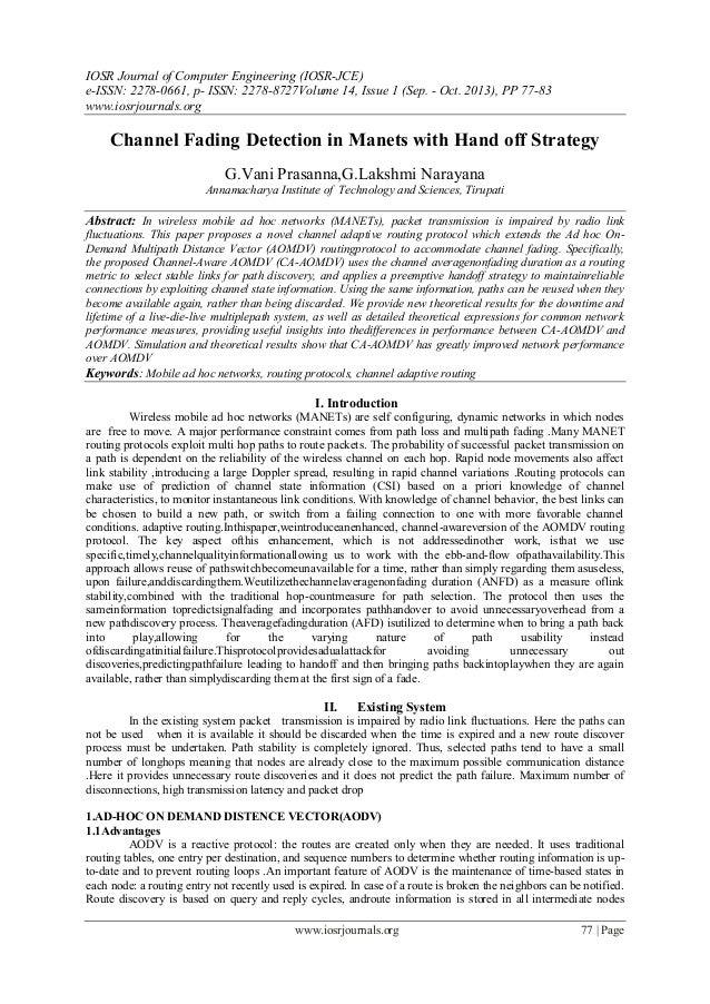 IOSR Journal of Computer Engineering (IOSR-JCE) e-ISSN: 2278-0661, p- ISSN: 2278-8727Volume 14, Issue 1 (Sep. - Oct. 2013)...