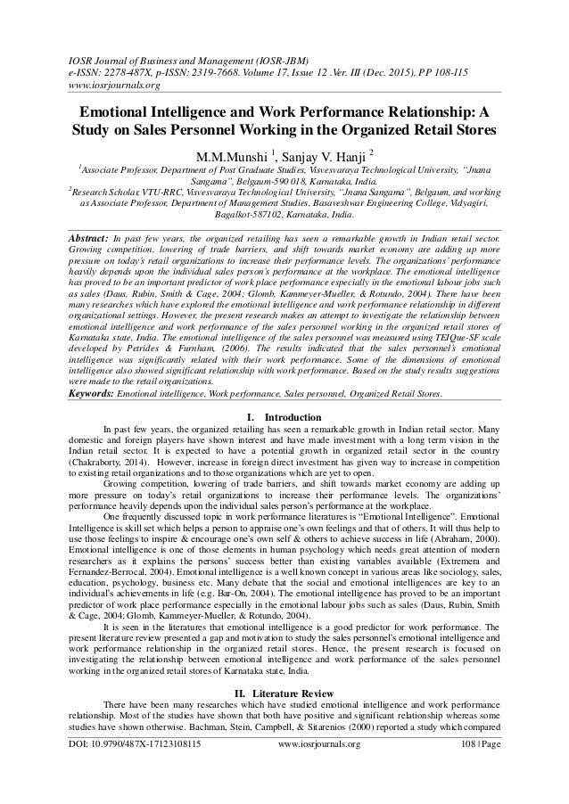 IOSR Journal of Business and Management (IOSR-JBM) e-ISSN: 2278-487X, p-ISSN: 2319-7668. Volume 17, Issue 12 .Ver. III (De...