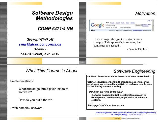 Software Design                                                                                       Motivation          ...