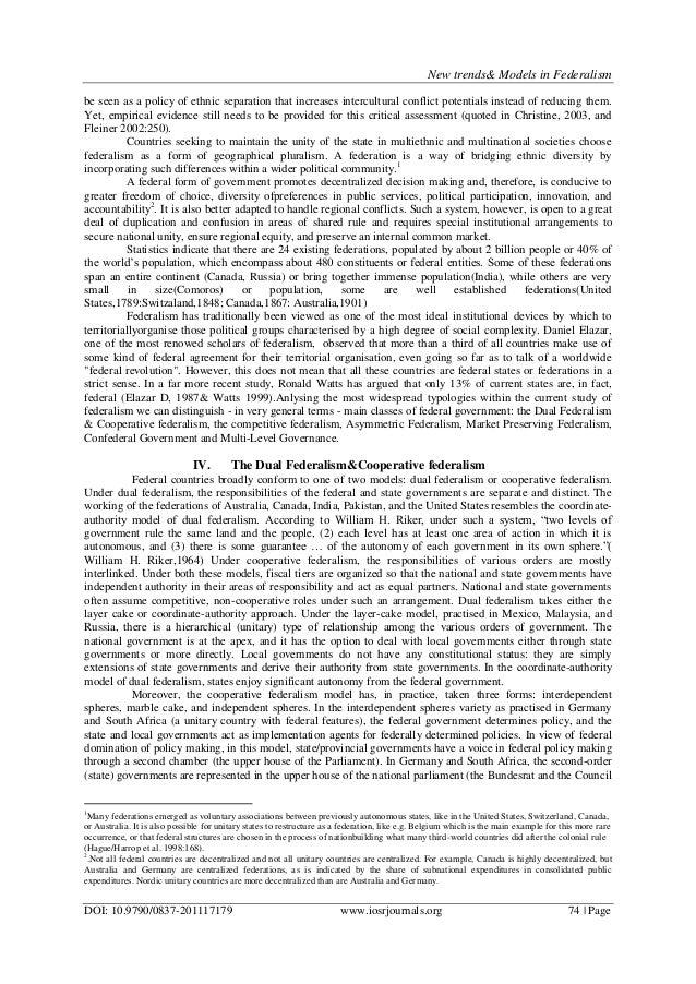 federalism essay paper