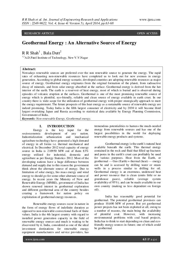 R R Shah et al. Int. Journal of Engineering Research and Applications www.ijera.com ISSN : 2248-9622, Vol. 4, Issue 4( Ver...