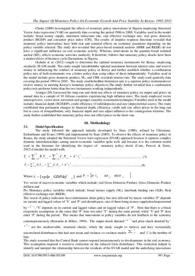 monetary policy in kenya pdf