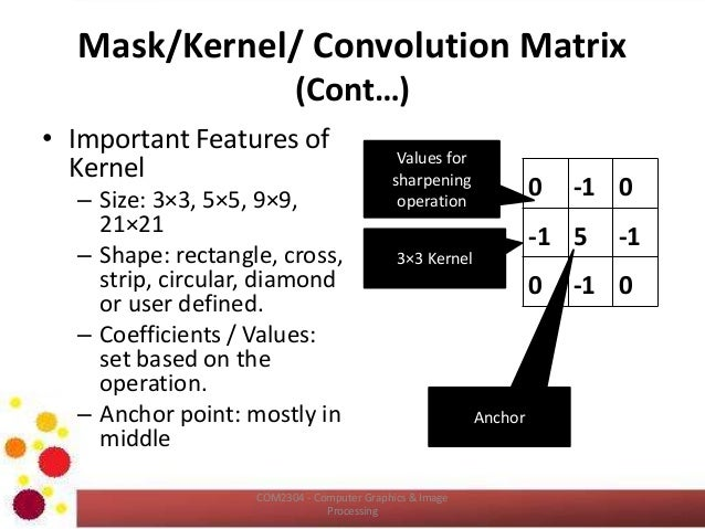 COM2304: Intensity Transformation and Spatial Filtering – II