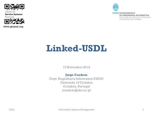 www.genssiz.org                  Linked-USDL                          13 November 2012                            Jorge Ca...
