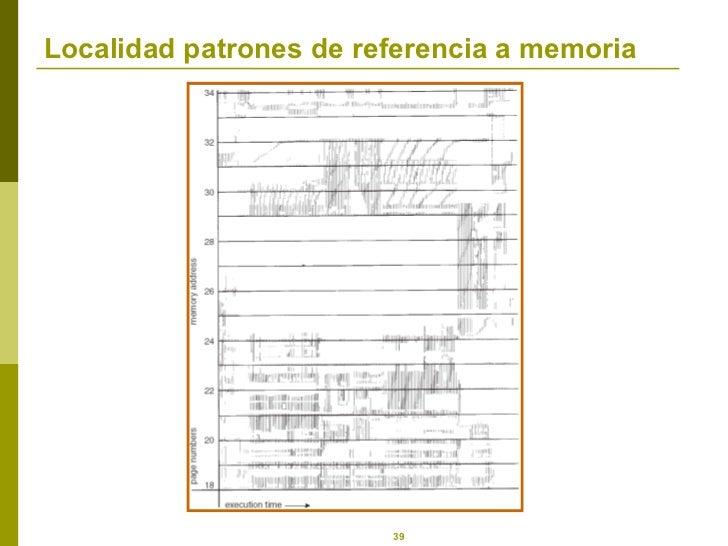 Localidad patrones de referencia a memoria