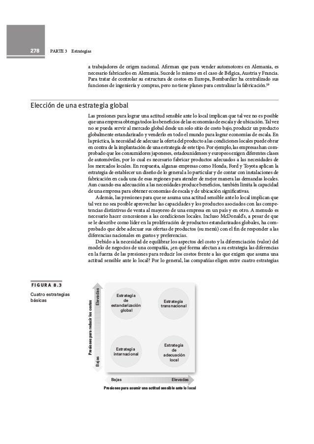 278 PARTE 3 Estrategias a trabajadores de origen nacional. Afirman que para vender automotores en Alemania, es necesario f...