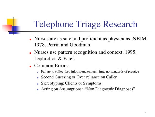 telephone triage essay