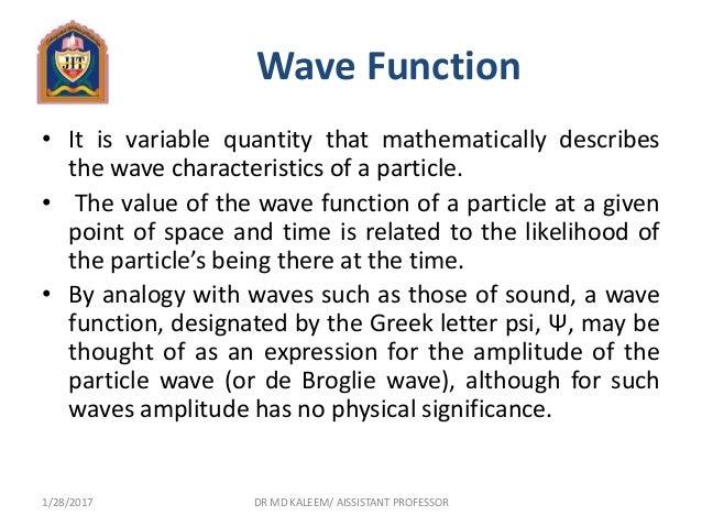 Greek Letter For Wave Function