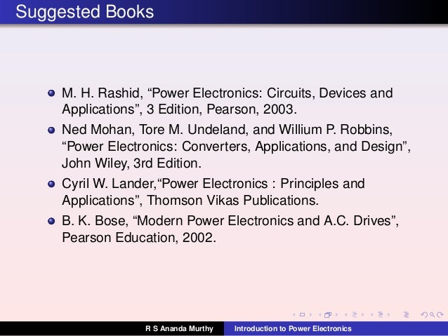 Power Electronics: Circuits, Devices and Applications (3rd