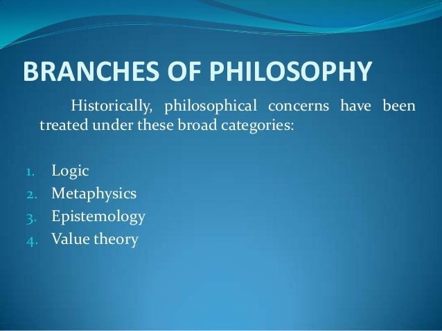 branches of philosophy essays The capacity for abstract reflection in certain areas must be as old as  the  contemporary professional philosophy paper is ideally purged of.