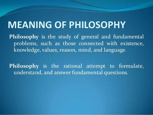 IMPORTANCE OF STUDYING PHILOSOPHY PDF