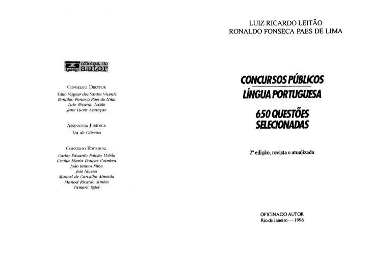 Livro 650 questões de português