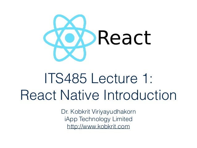 ITS485 Lecture 1: 
