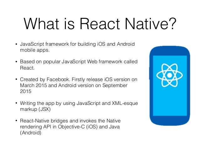 React Native Introduction: Making Real iOS and Android