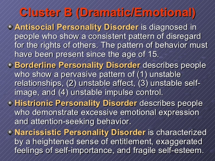 Dating a girl with histrionic personality disorder