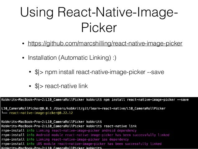 React-Native Tutorial 10] Camera Roll / Gallery / Camera
