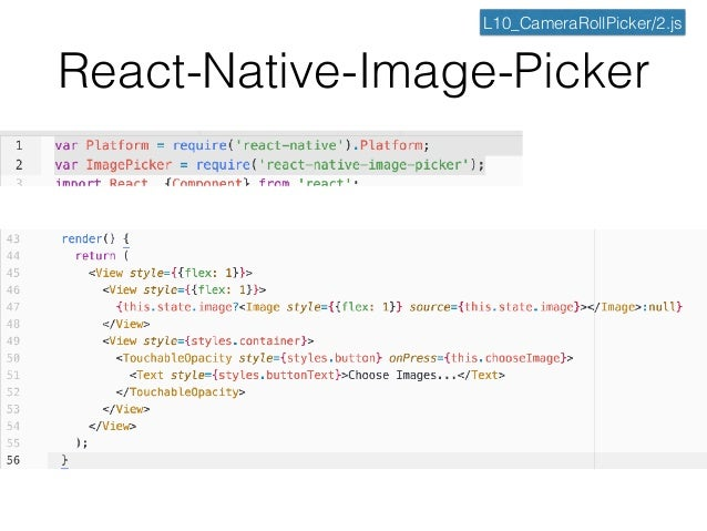 React-Native Tutorial 10] Camera Roll / Gallery / Camera / Native Mo…