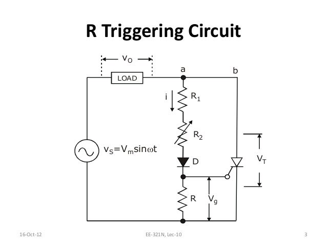 l10 res triggering circuit Simple Capacitor Circuit