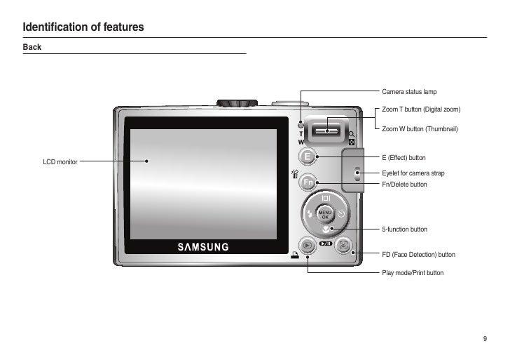 samsung camera l100 user manual rh slideshare net Samsung L100 Software Samsung L100 Digital Camera