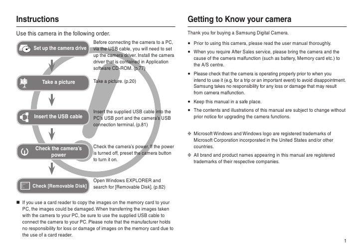 samsung camera l100 user manual rh slideshare net Owner's Manual Operators Manual
