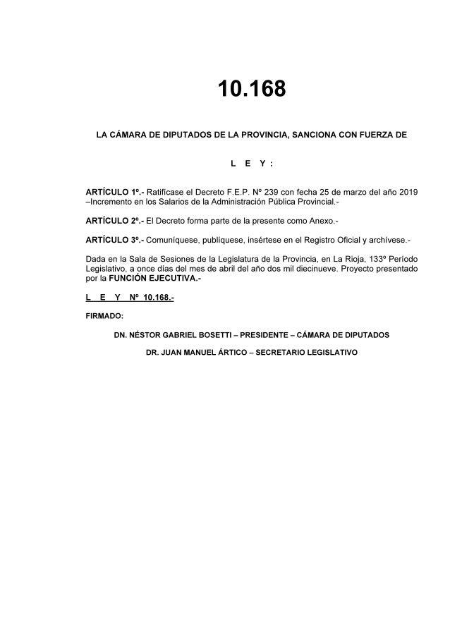 Salarios de la Administración Pública de La Rioja 2019