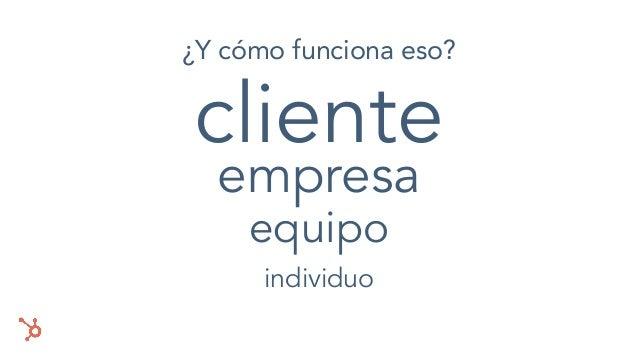 cliente empresa equipo individuo ¿Y cómo funciona eso?