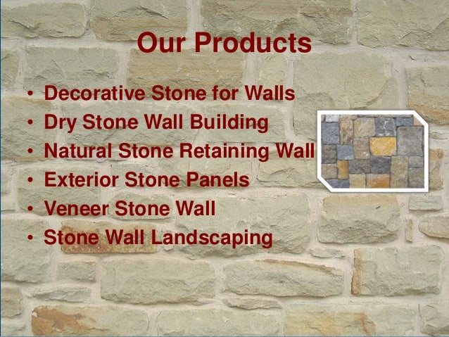 Stacked Stone Wall Construction