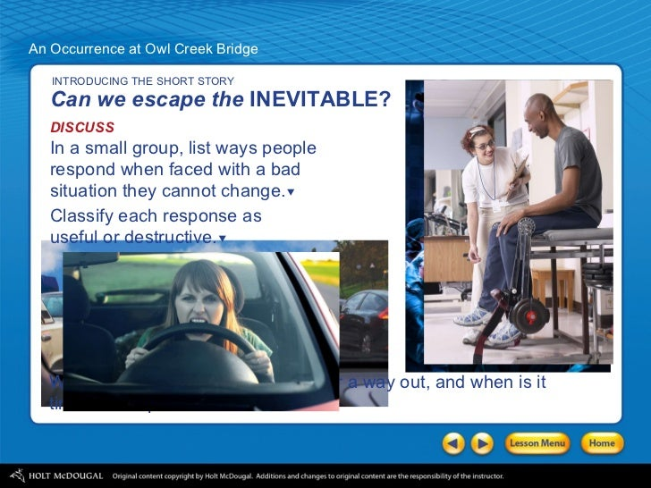 an occurrence at owl creek bridge point of view essay An introduction to an occurrence at owl creek bridge by ambrose bierce view the study pack critical essay #1 critical essay #2.