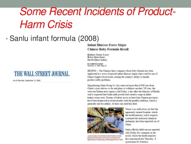 product harm Abstract brand equity is a valuable yet fragile asset the mounting frequency of product-harm crises and ill-prepared corporate responses to such crises can have.