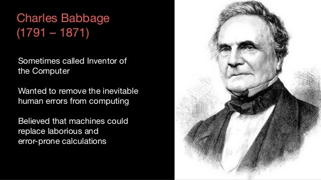 Babbage started on a new machine in 1834  Beginning of the 2nd Kondratiev – Steam  Analytical engine  Programmable machine...