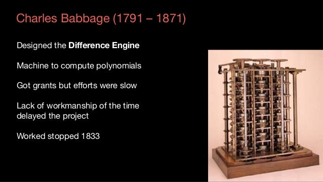 Augusta Ada King (1815-1852) Countess of Lovelace A Programmable Machine -  General purpose computer Contained  mill to ...