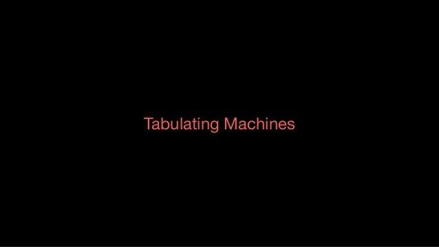 Tabulating Machines Source:Tabulatingmachine HermanHollerith Tabulating Machine Company – TMC  US Census Bureau award...