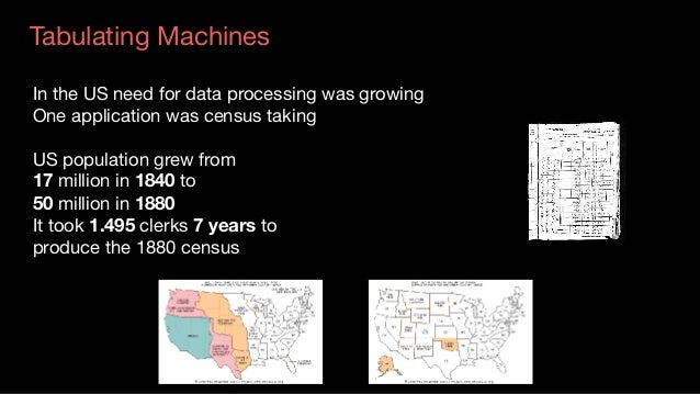 Tabulating Machines Source:Tabulatingmachine HermanHollerith Used punched cards  Hollerith cards were in use until 19...