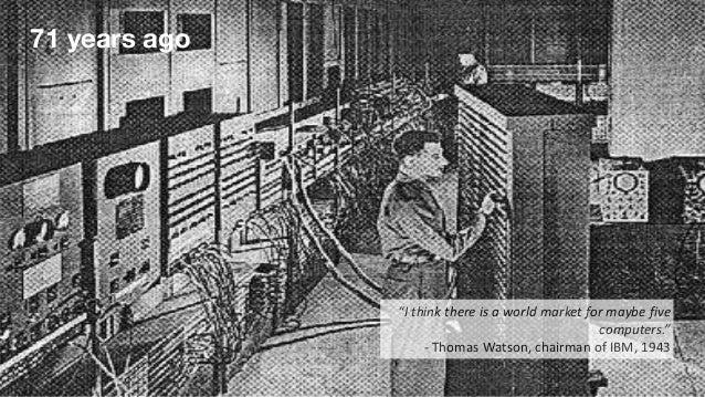 """40 years ago """"Thereisnoreasonforanyindividualtohavea computerintheirhome."""" -KennethOlsen,presidentandfo..."""