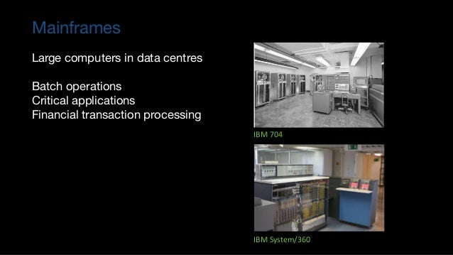 Lessons: Mainframes to Mini computers ▪ This allowed new entrants: DEC, Data General, Prime, Wang and Nixdorf – to create ...