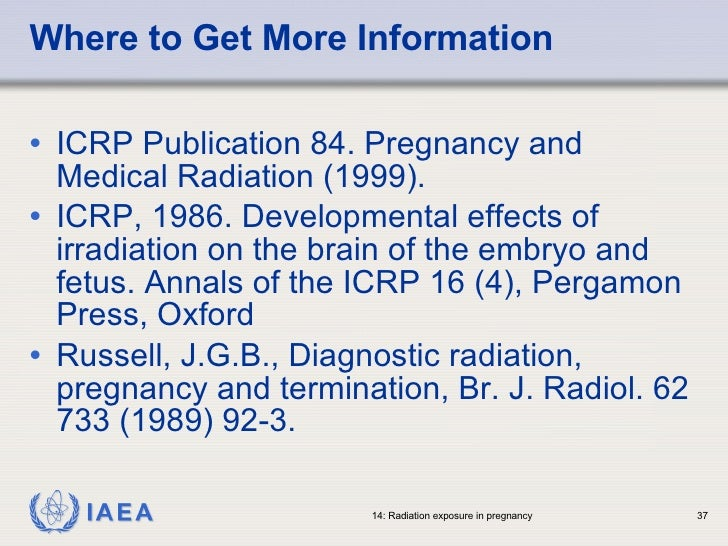 ICRP Publication 84: Pregnancy and Medical Radiation