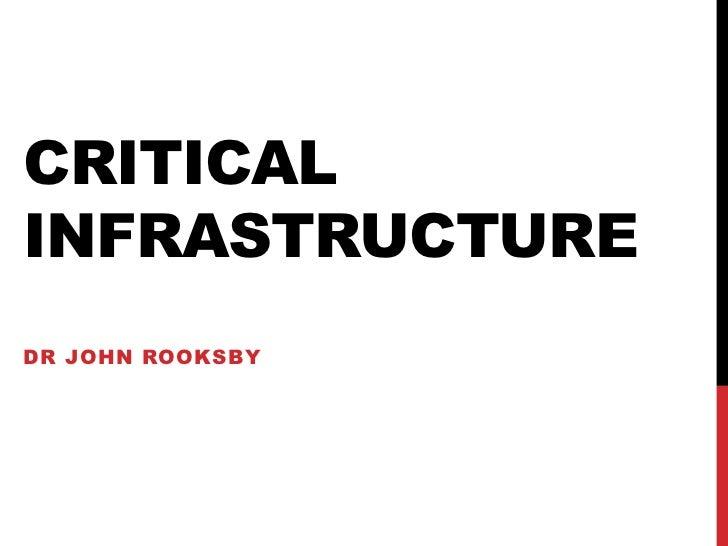 CRITICALINFRASTRUCTUREDR JOHN ROOKSBY