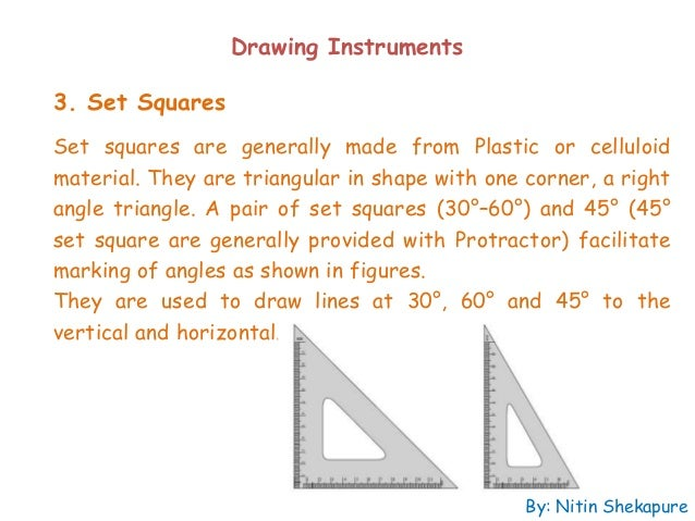 Drawing Parallel Lines Using Set Squares : Introduction to engineering graphics