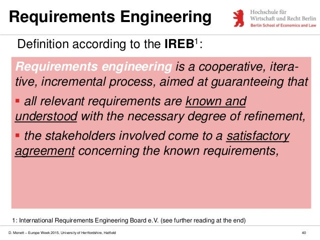 A Structured Approach To Requirements Analysis Lecture Slides
