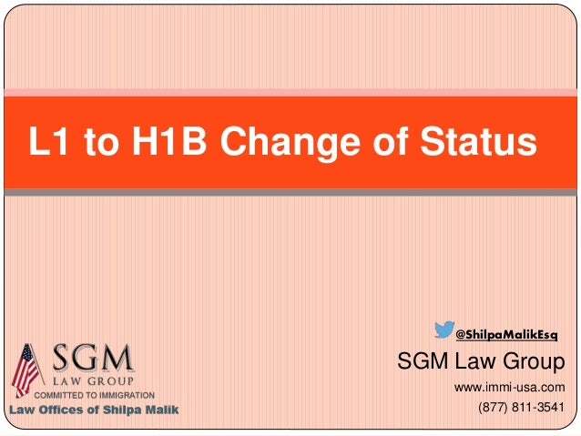 L1a to h1b change of status