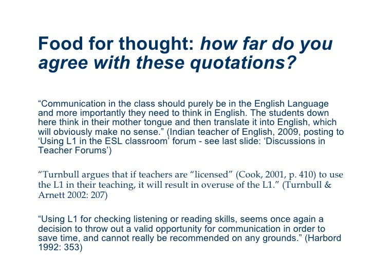 using l1 to teach l2 Theoretical works and practical methods in language teaching recommending to teach a second/foreign  assessing the effects of using l1 on learning l2 is fairly.