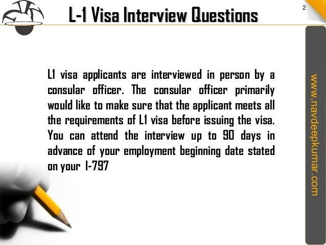 L1 Visa Interview Questions