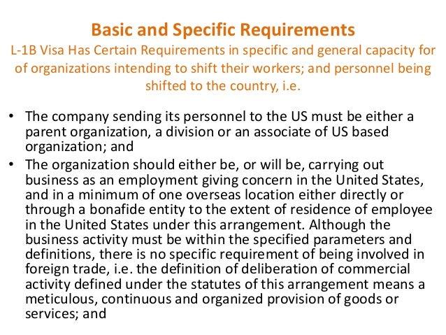L1 Visa Requirements And Green Card Process