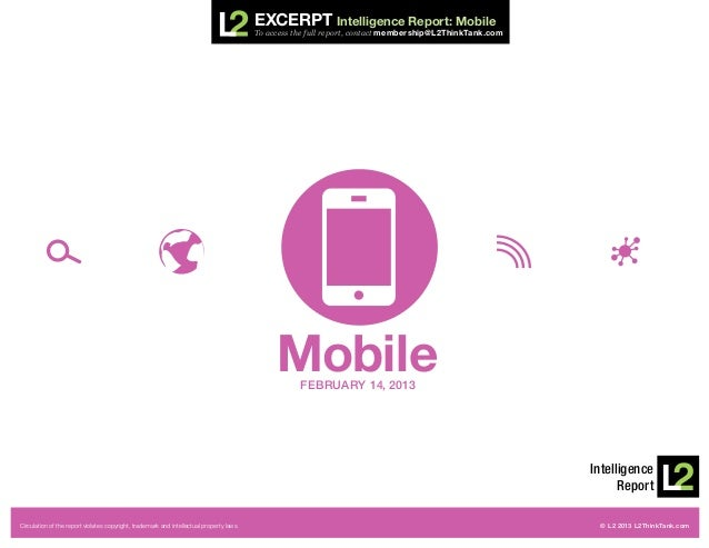 Excerpt Intelligence Report: Mobile                                                                                       ...