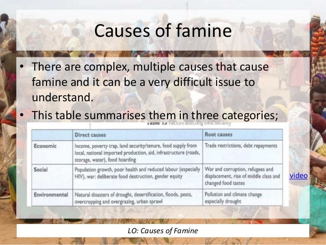 cause of somalia famine Famine has been declared in parts of south sudan and the food security situation is of grave concern in 6 other countries: ethiopia, kenya, nigeria, somalia, uganda, and yemen very high levels of severe acute malnutrition have been reported in the the most affected countries.