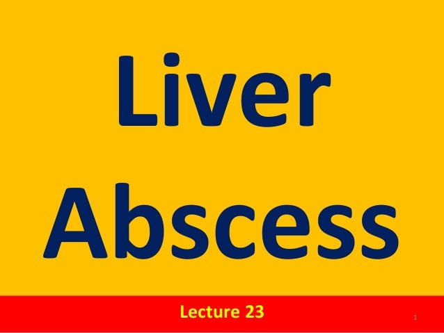LiverAbscessLecture 23 1