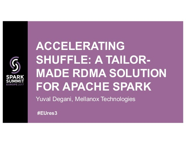 Yuval Degani, Mellanox Technologies ACCELERATING SHUFFLE: A TAILOR- MADE RDMA SOLUTION FOR APACHE SPARK #EUres3