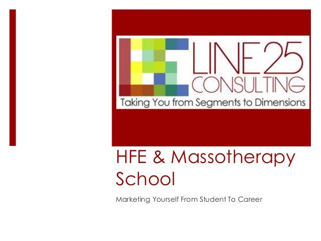 HFE & Massotherapy School Marketing Yourself From Student To Career