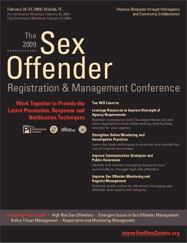 Sex offender management conference