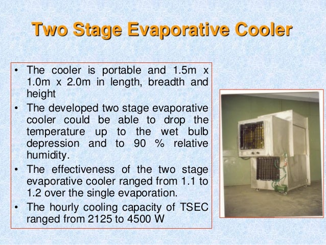 Evaporative Cooling Effectiveness Map